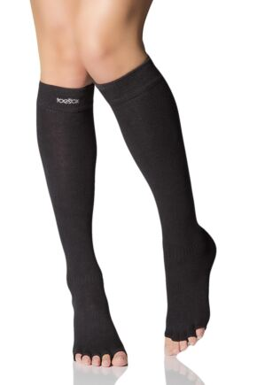 a965795d6 ToeSox Scrunch Half Toe Organic Cotton Knee High Socks