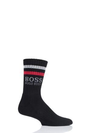 NEW 10 PAIRS DESIGNER HUGO BOSS MEN/'S SOCKS Black Grey COLORS US Size 7-9