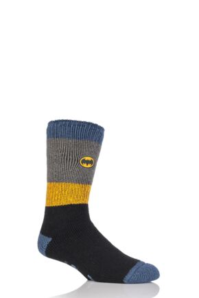 bc9848e025d1 Heat Holders DC Comics Batman Slipper Socks with Grip