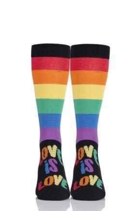 2f90ee1ff SockShop Bamboo 1 Pair Pride Rainbow Love is Love Socks