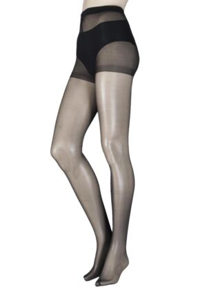 65b1543203db4 Ladies 1 Pair SockShop 10 Denier Classic Nylon Tights