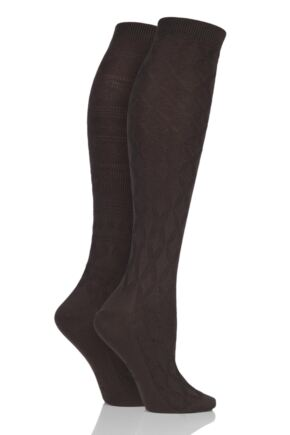 8ab81ff5a Elle Floral and Fair Isle Patterned Knee High Socks