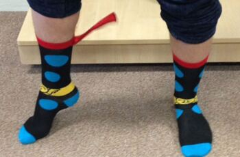 We're SO into our NEW Superhero Cape Socks!