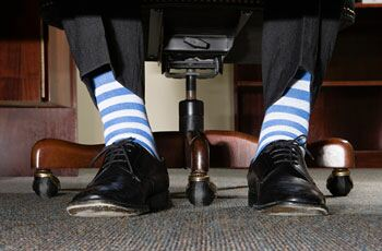 Does wearing crazy socks make you look more successful?