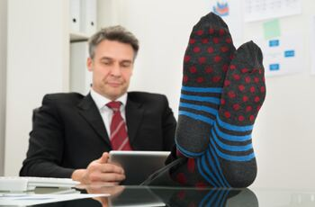 The rise of the 'suit sock'