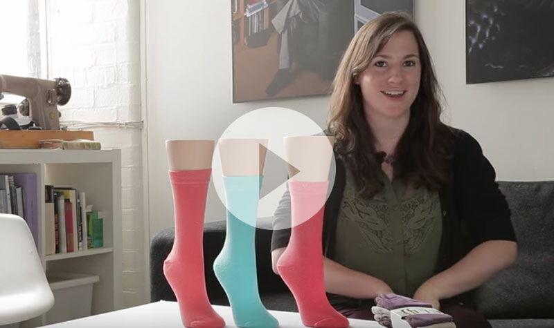 Ladies Gentle Grip plain bamboo socks from SockShop