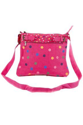 Ladies Bewitched Spots, Spots, Spots Polka Dot Design Messenger Bag 75% OFF Fuchsia