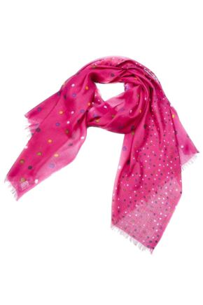 Ladies Bewitched Spots, Spots, Spots Polka Dot Design Scarf 75% OFF Fuchsia