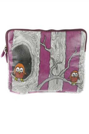 Ladies Bewitched Twit-Twoo Funky Owl Design iPad Case Purple