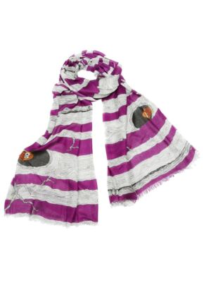Ladies Bewitched Twit-Twoo Funky Owl Design Scarf 75% OFF Purple