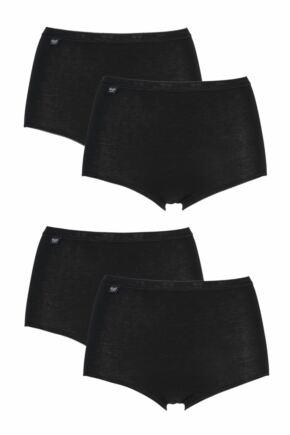 Ladies 4 Pair Sloggi Basic+ Maxi Briefs