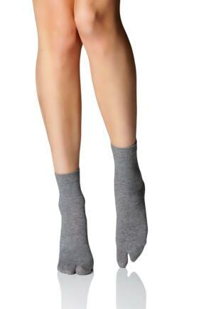 Ladies 1 Pair Birkenstock Cotton Split Socks