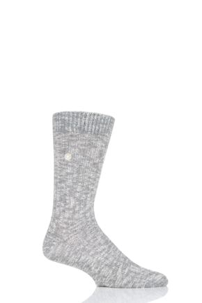 Mens 1 Pair Birkenstock Cotton Slub Thick Ribbed Socks