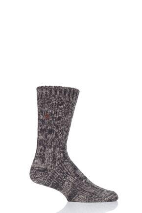 Mens 1 Pair Birkenstock Cotton Slub Twist Ribbed Socks Brown 5.5-7.5 Mens