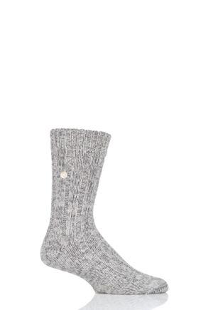 Mens 1 Pair Birkenstock Cotton Slub Twist Ribbed Socks