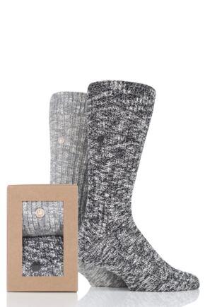 Mens 2 Pair Birkenstock Gift Boxed Cotton Slub Socks