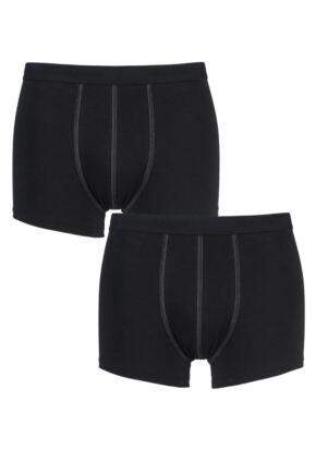 Mens 2 Pack Sloggi 24/7 Basic Natural Cotton Boxer Shorts