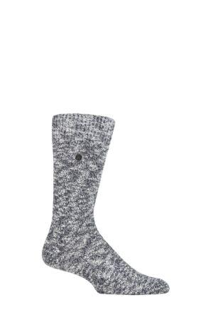 Mens 1 Pair Birkenstock Structured Slub Cotton Socks