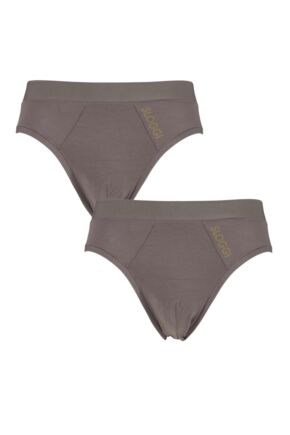 Mens 2 Pack Sloggi GO Allround One Size Fits All Briefs Havanna One Size