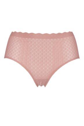 Ladies Sloggi Zero Feel Seamfree Lace High Waist Briefs