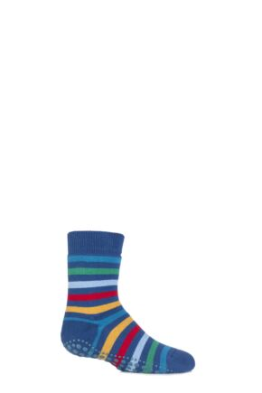 Boys and Girls 1 Pair Falke Striped Catspads Indigo 19-22
