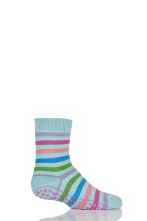 Boys and Girls 1 Pair Falke Striped Catspads Light Green 39-42