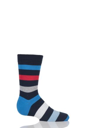 Boys And Girls 1 Pair Falke Striped Cotton Socks Marine 19-22