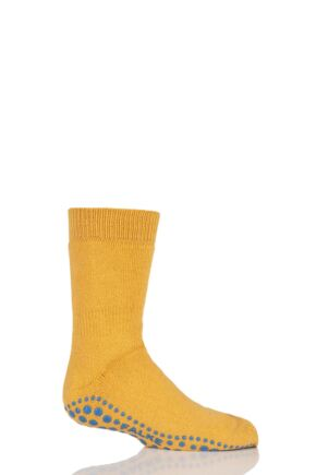 Boys And Girls 1 Pair Falke Catspads Slipper Socks Yellow 31-34