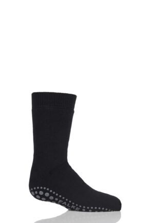 Boys And Girls 1 Pair Falke Catspads Slipper Socks Black 2 35-38