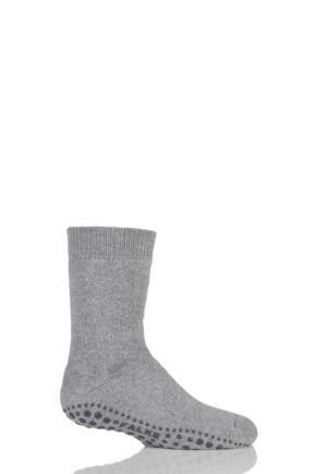 Boys And Girls 1 Pair Falke Catspads Slipper Socks Light Grey 39-42
