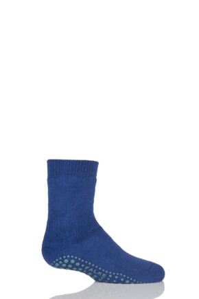 Boys And Girls 1 Pair Falke Catspads Slipper Socks Royal Blue 23-26