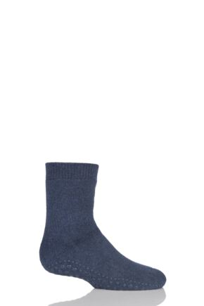 Boys And Girls 1 Pair Falke Catspads Slipper Socks Dark Blue 2 27-30