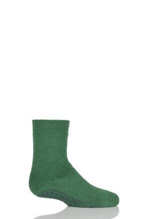 Boys And Girls 1 Pair Falke Catspads Slipper Socks Green 23-26