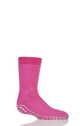 Boys And Girls 1 Pair Falke Catspads Slipper Socks Bright Pink 39-42