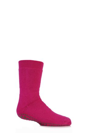 Boys And Girls 1 Pair Falke Catspads Slipper Socks Hot Pink 39-42