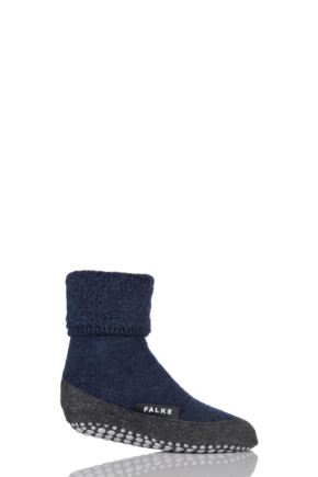 Boys and Girls 1 Pair Falke Cosyshoe Socks Dark Blue 27-28