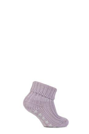 Babies 1 Pair Falke Catspads Slipper Socks Lavender 74-80