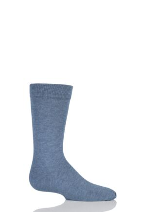 Boys And Girls 1 Pair Falke Family Casual Cotton Socks Denim 19-22