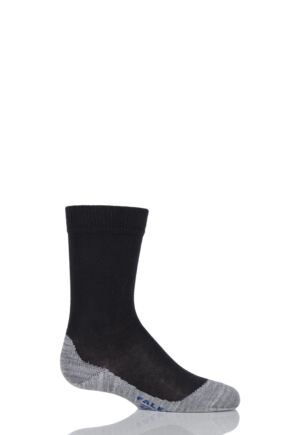 Boys and Girls 1 Pair Falke Active Sunny Days Cotton Sports Socks Black 35-38