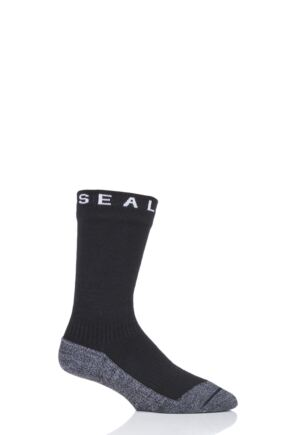 SealSkinz 1 Pair 100% Waterproof Soft Touch Mid Length Socks