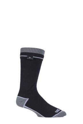 Mens and Ladies 1 Pair SealSkinz 100% Waterproof Thin Mid Length Socks