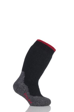 Boys And Girls 1 Pair Falke Active Warm Plus Knee High Socks Black 23-26