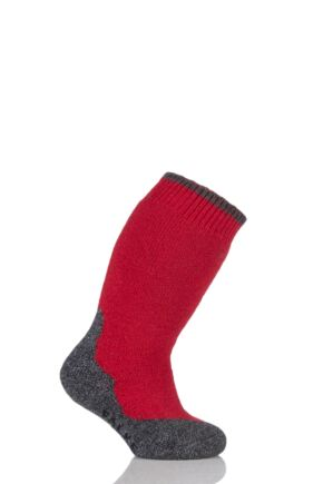 Boys And Girls 1 Pair Falke Active Warm Plus Knee High Socks Fire 23-26
