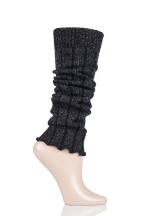 Girls 1 Pair Falke Ribbed Cotton Legwarmers Black One Size