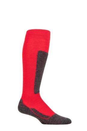 Boys and Girls 1 Pair Falke Active Ski Knee High Wool Blend Socks