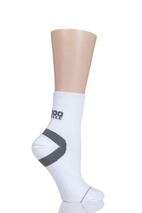 Mens and Ladies 1 Pair 1000 Mile Ultimate Tactel Anklet Socks White LM