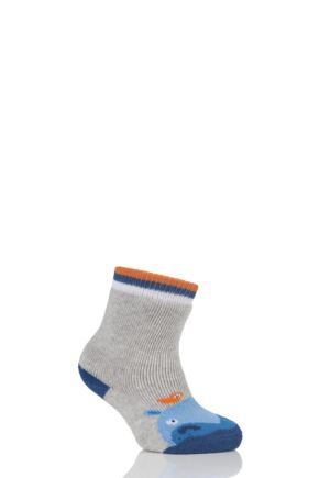 Babies 1 Pair Falke Hippo Catspad Socks with Grip Grey 80-92
