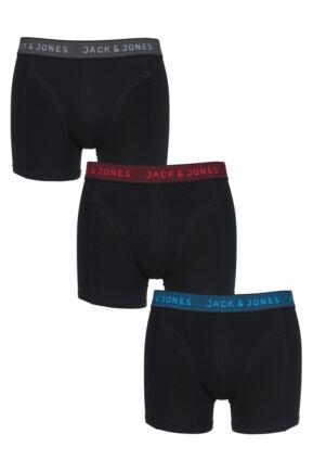 Mens 3 Pack Jack & Jones Contrast Waistband Boxer Shorts