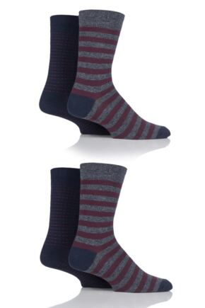 Mens 4 Pair Jack & Jones Minimal Cotton Socks