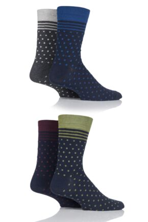 Mens 4 Pair Jack & Jones Bloom Cotton Socks